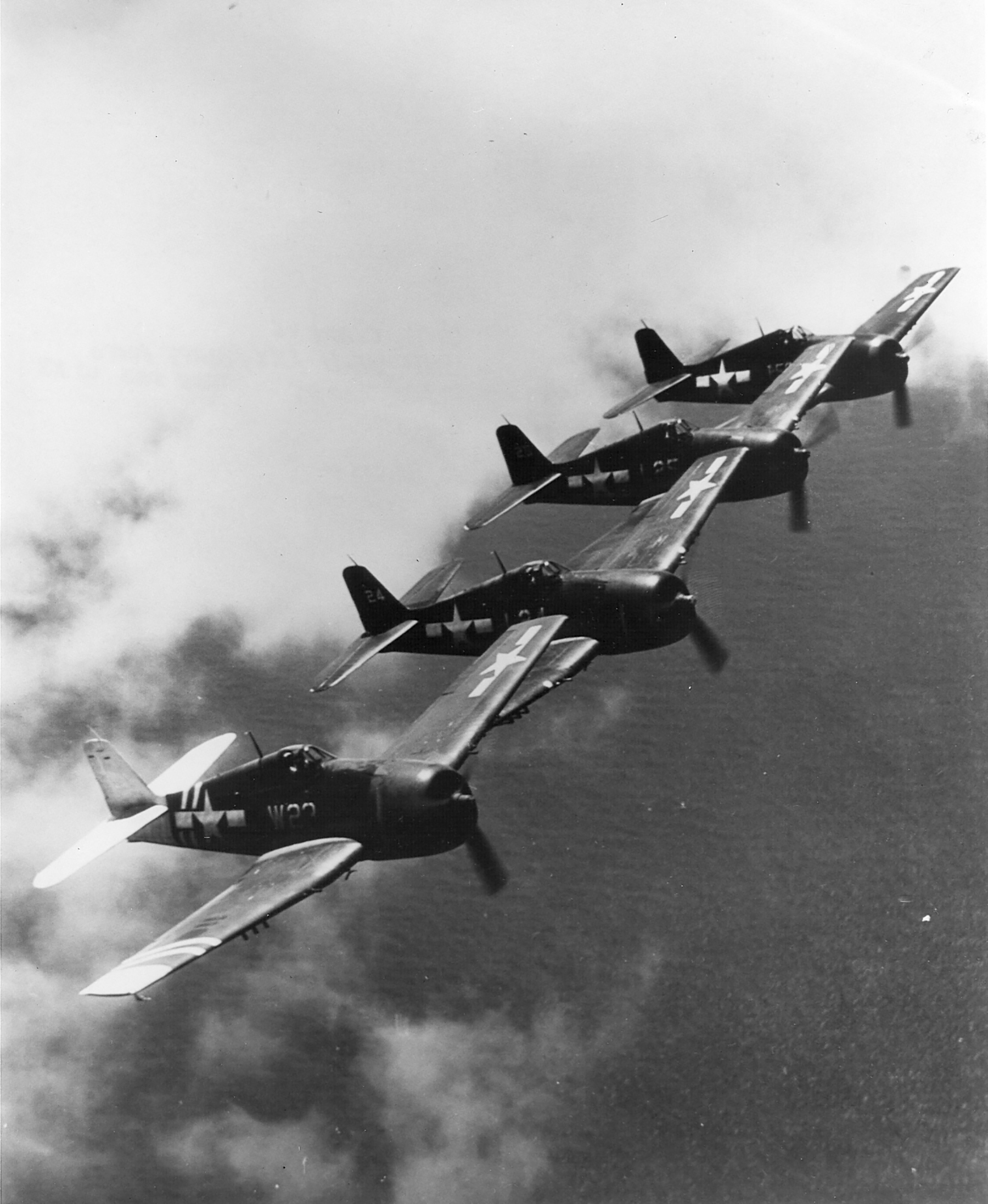 Grumman F6F 5P Hellcats VF 11 White W23 and W24 from NAS Barbers Point HI 1945 01