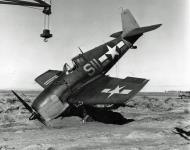 Asisbiz Grumman F6F 5 Hellcat NAS Yellow S11 taxi mishap NAAS Fallon 01