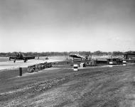 Asisbiz Grumman F6F 5 Hellcat White C34 and C27 using a bridle catapult from NAS Barbers Point HI 1959 01