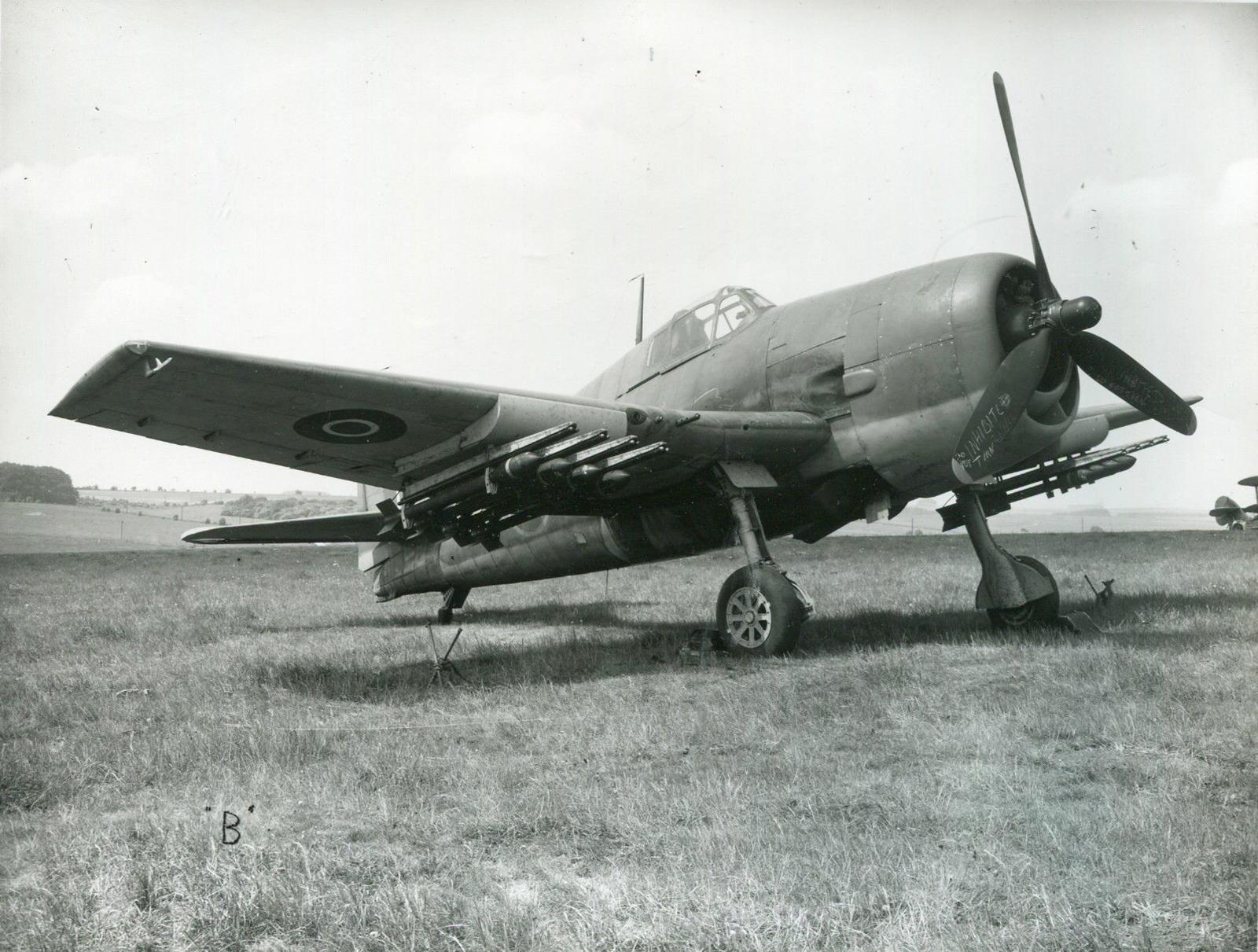 Grumman F6F 3 Hellcat Aircraft Armament Experimental Establishment Boscombe Down England 01