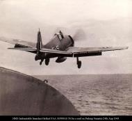 Asisbiz HMS Indomitable launches Hellcat FAA 1839NAS 5S for a raid on Padang Sumatra Aug 24 1944 01