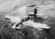 Asisbiz Royal Navy Grumman TBF Avenger down in the drink 01