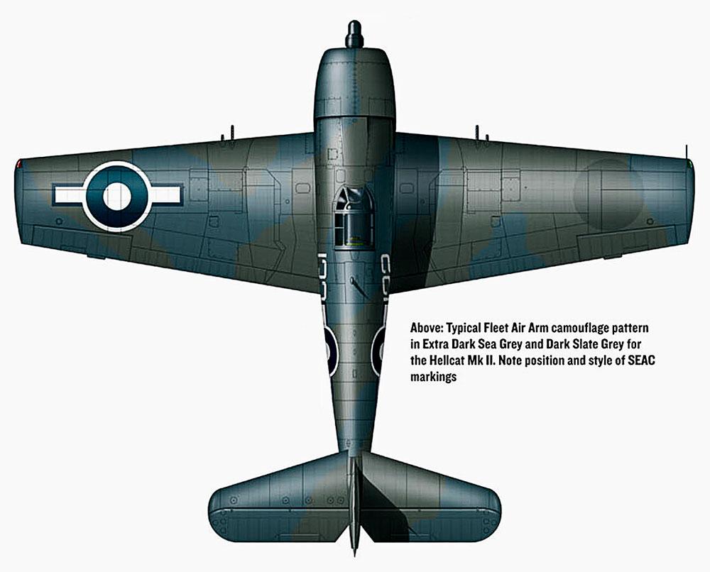 Grumman Hellcat MkII RN FAA 1844NAS W132 WMC Foster JX814 HMS Indomitable Okinawa April 12 1945 V0D