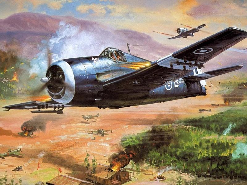 Grumman Hellcat MkII RN FAA 800NAS C3B named Joy and C3 H SEAC 1945 0A