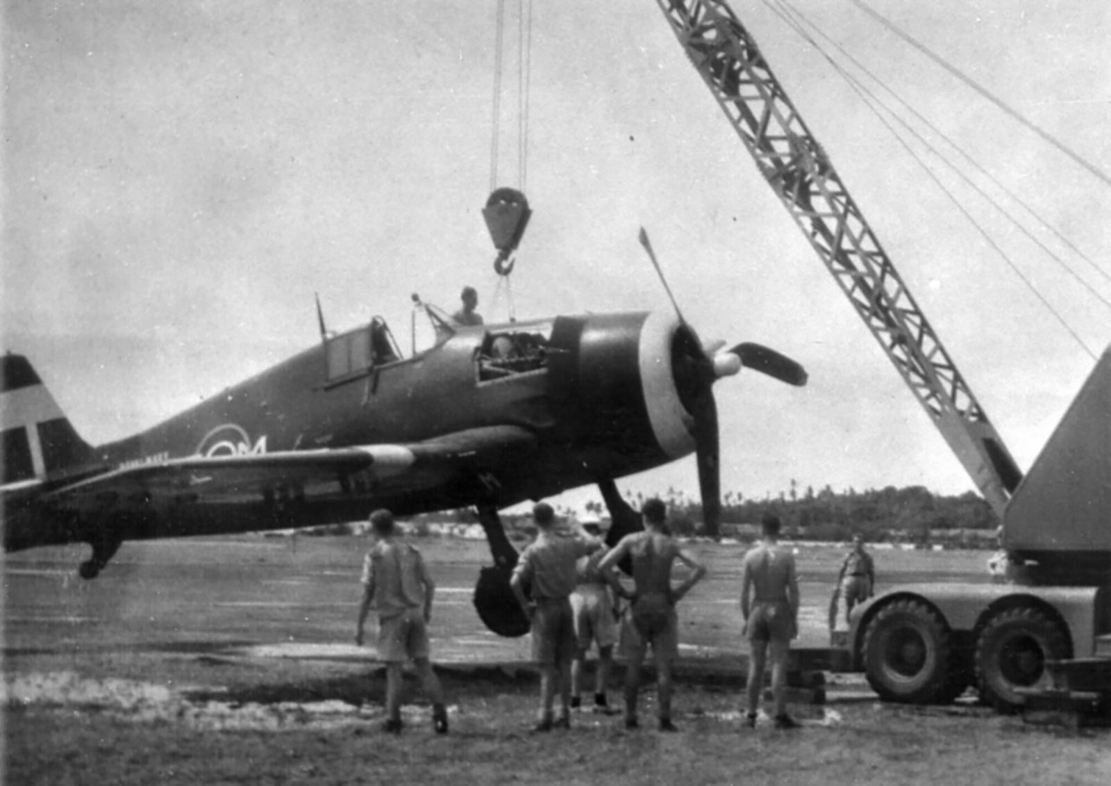 Grumman Hellcat MkII RN FAA 800NAS C3M landing mishap SEAC 1945 01
