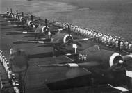 Asisbiz Grumman Hellcat MkII RN FAA 800NAS C3H HMS Emperor entering Singapore 1945 02