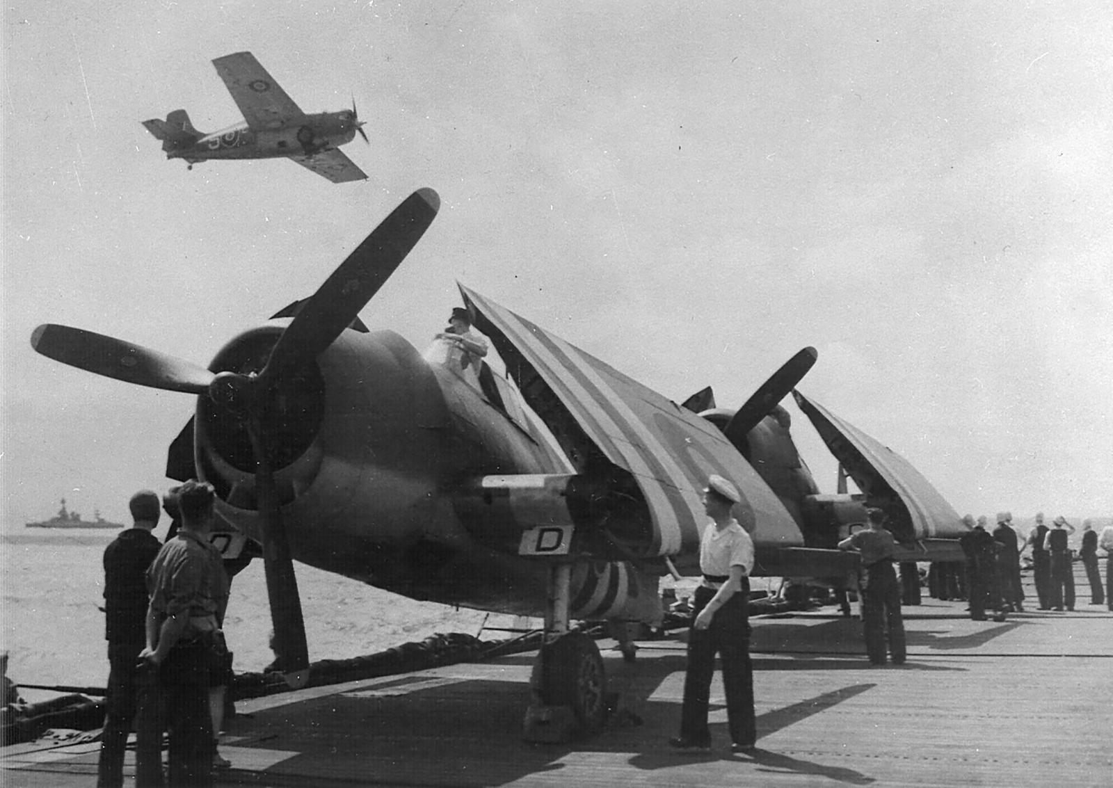Grumman Hellcat MkI RN FAA 800NAS or 804NAS Red ED 1944 02