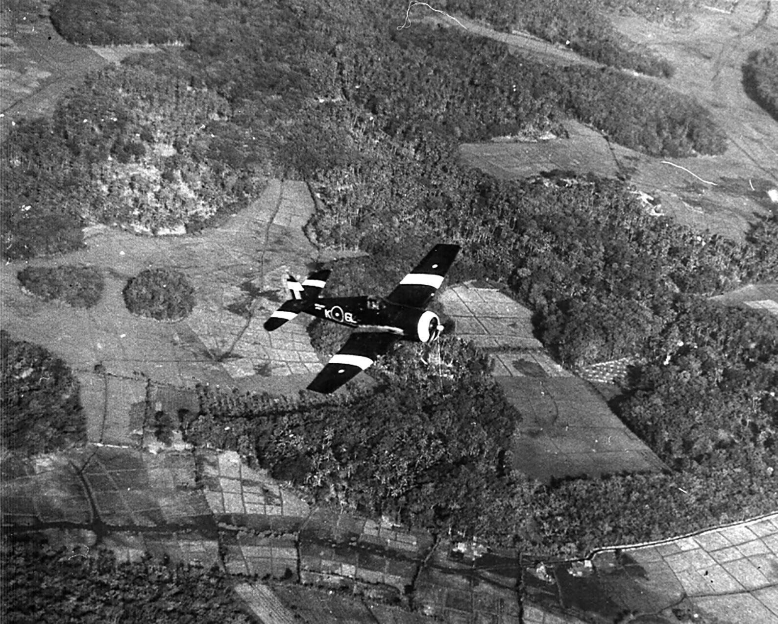 Grumman Hellcat MkII RN FAA 804NAS K6L on patrol SEAC 1945 01