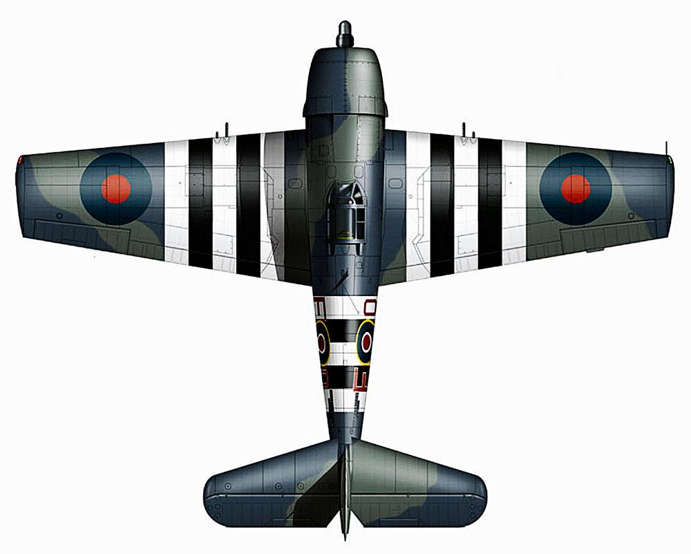 Grumman Hellcat MkI RN FAA 804NAS EO pilot SG Orr JV125 aboard HMS Emperor May 1944 0B