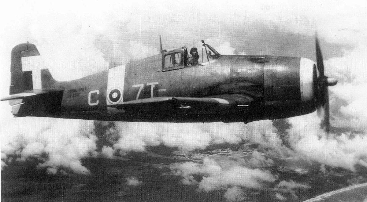 Grumman Hellcat MkII RN FAA 808NAS C7T JV292 HMS Khedive 1945 01