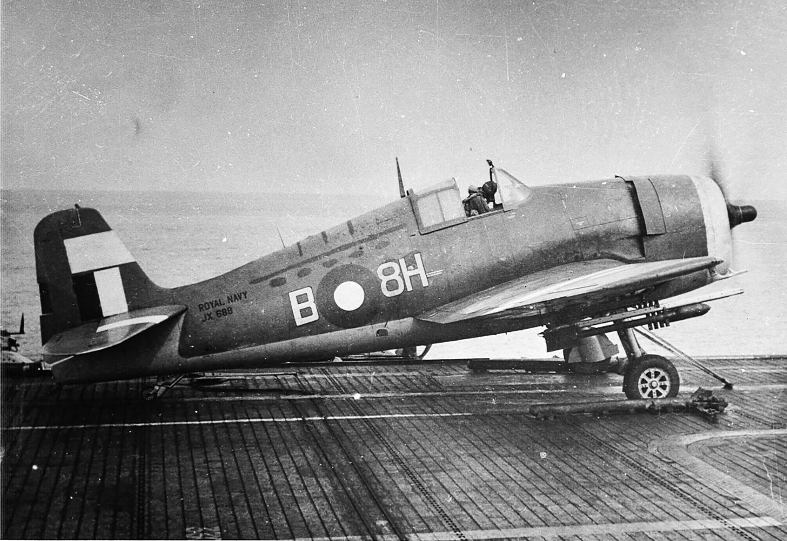 Grumman Hellcat MkII RN FAA 896NAS B8H JX688 preparing for launch SEAC 1945 01