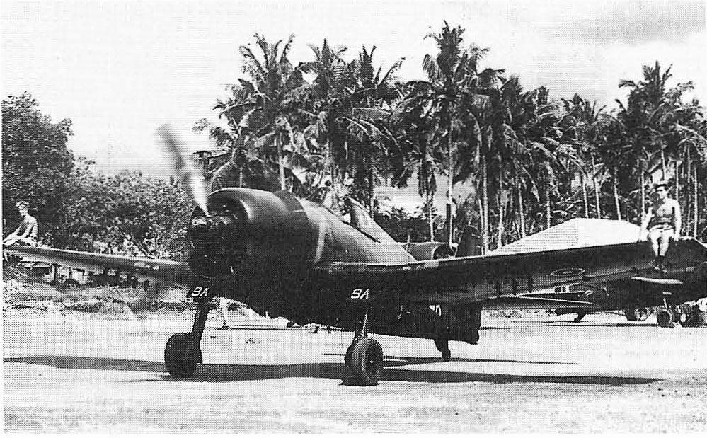 Grumman Hellcat MkII RN FAA 898NAS B9A JZ807 at Colombo 1945 01