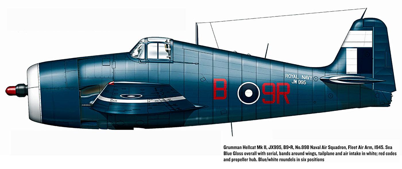 Grumman Hellcat MkII RN FAA 898NAS B9R JX995 1945 0A