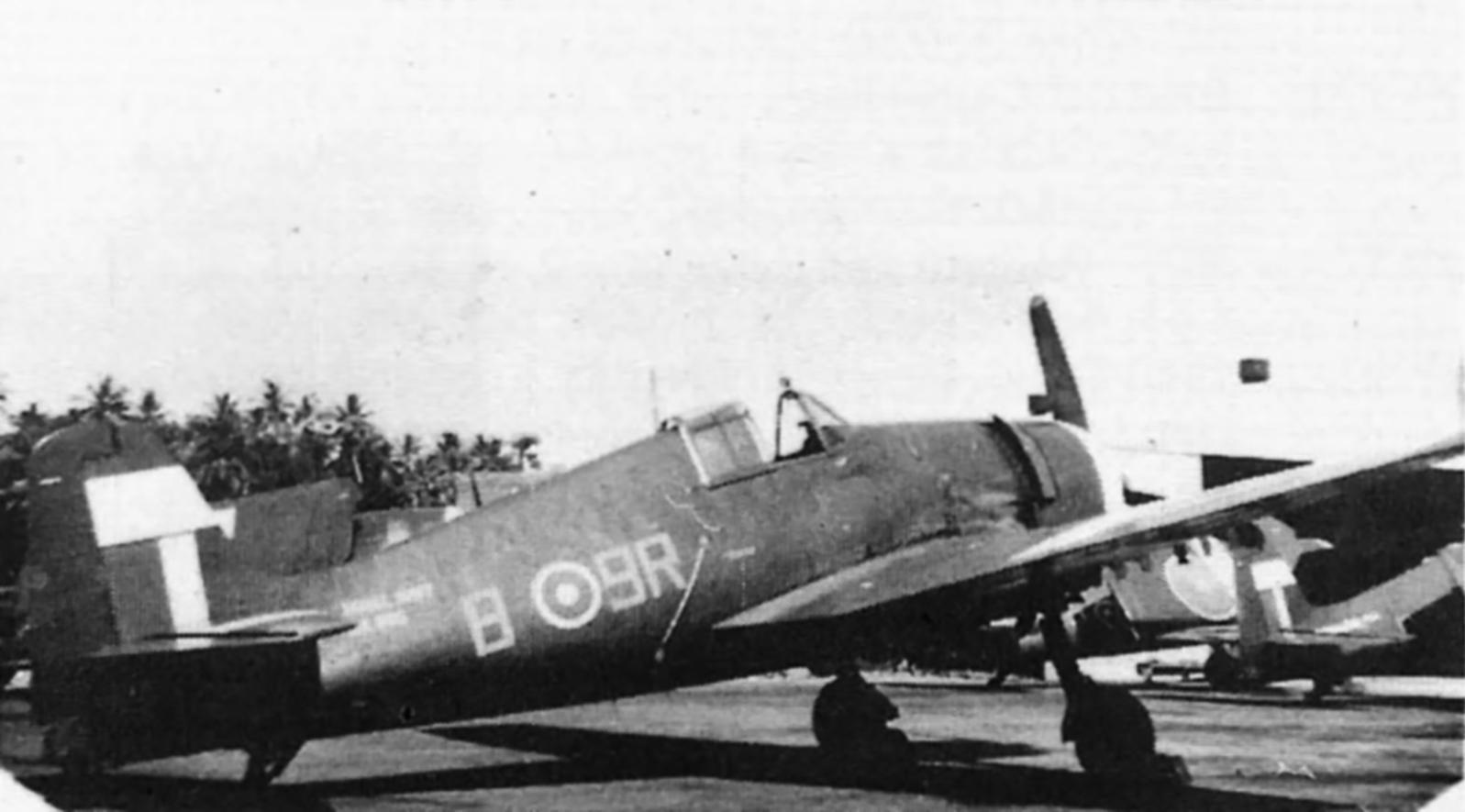 Grumman Hellcat MkII RN FAA 898NAS B9R JX995 at Colombo 1945 01