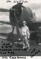 Asisbiz Aircrew USN VBF 8 Ens William Everett Wentzel KIA 31st Aug 1945 carquals CVE 53 USS Casablanca off Saipan F6F 5 BuNo 72016 01