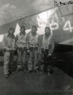 Asisbiz Aircrew USN VBF 8 NAS Puunene 1945 Carlson Johnson Callan Wasala 01