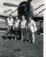 Asisbiz Aircrew USN VBF 8 Neely Ruzika Wentzel JE Andrews NAS Puunene 1945 01