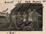 Asisbiz Aircrew USN VBF 8 pilots at NAB Kagman Point Aug 1945 01