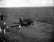Asisbiz Grumman F6F 5 Hellcat VBF 87 White 76 named 10,000th Hellcat CV 14 USS Ticonderoga June 1945 05