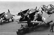 Asisbiz Grumman F6F 5 Hellcat VBF 87 and TBM Avengers VT 87 aboard CV 14 USS Ticonderoga 1944 01
