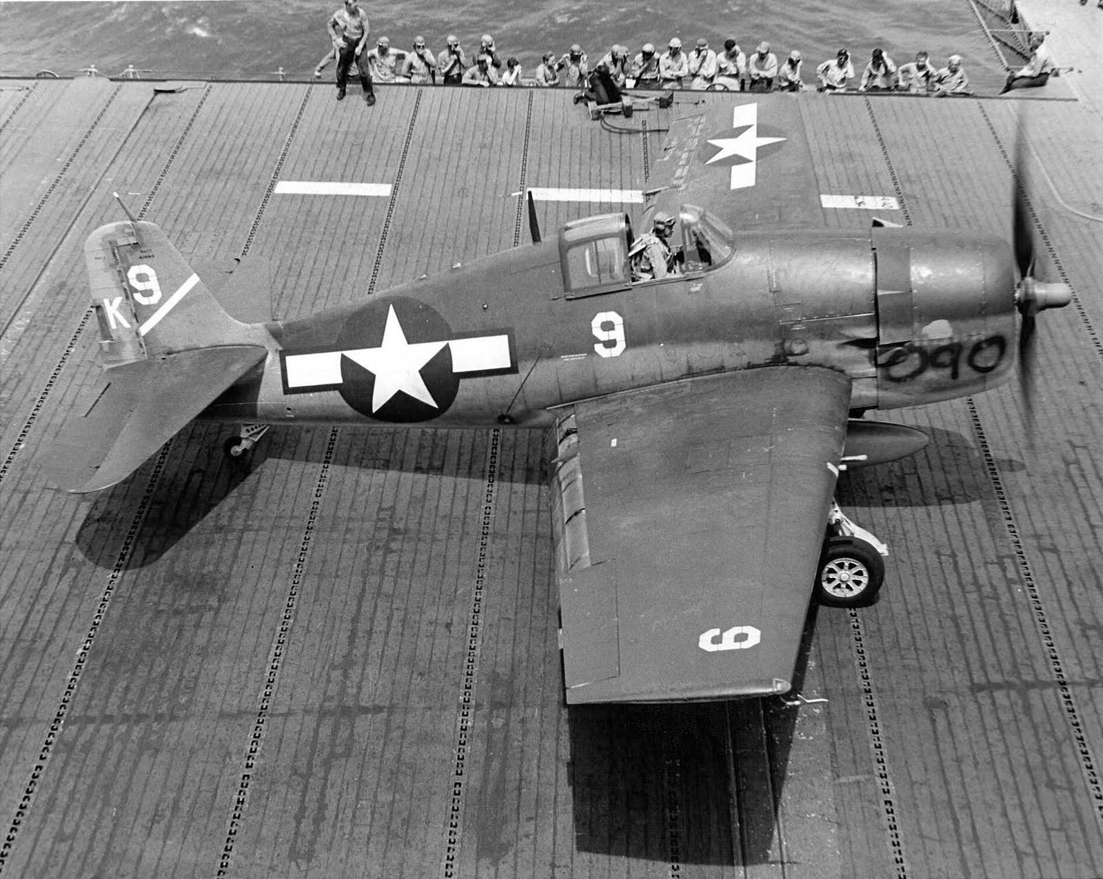 Grumman F6F 3 Hellcat VF 1 White K9 William Moseley BuNo 40090 CV 10 USS Yorktown II 1944 02