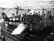Asisbiz Grumman F6F 3 Hellcat VF 1 White K21 aboard CV 10 USS Yorktown II 1944 01