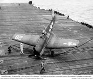 Asisbiz Grumman F6F 5 Hellcat VF 1 White K28 landing mishap CV 12 USS Hornet 02
