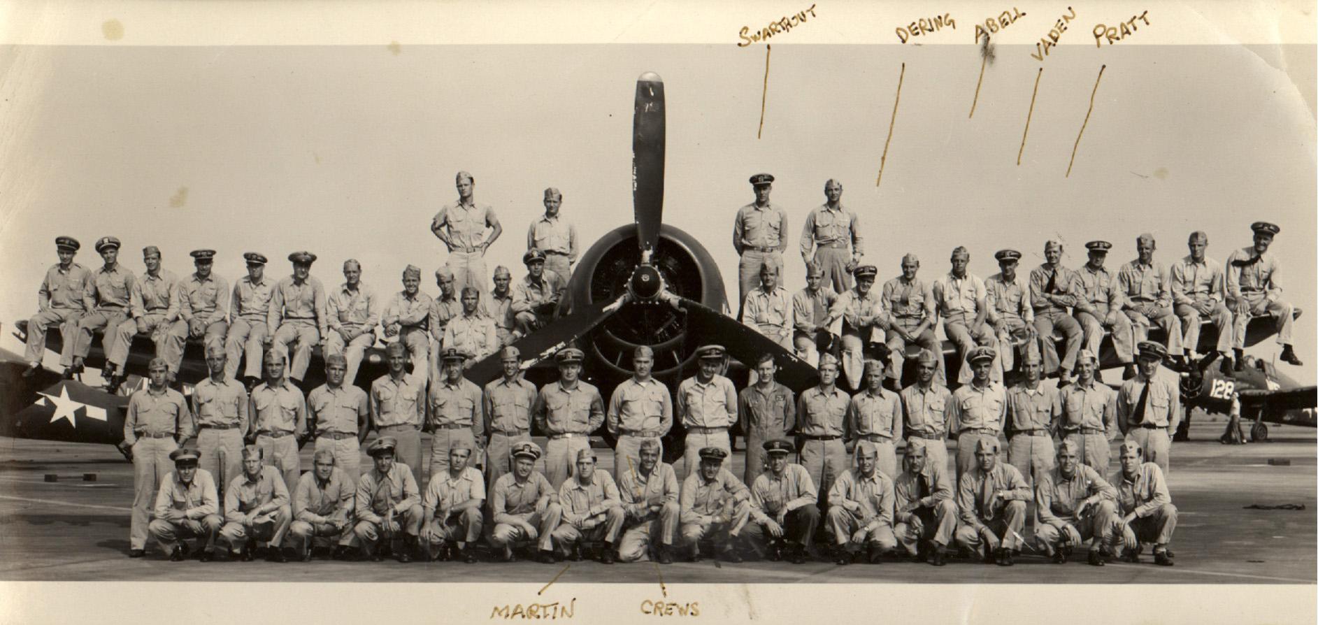 Aircrew USN VF 12 photographed at NAS San Diego CA 1943 01