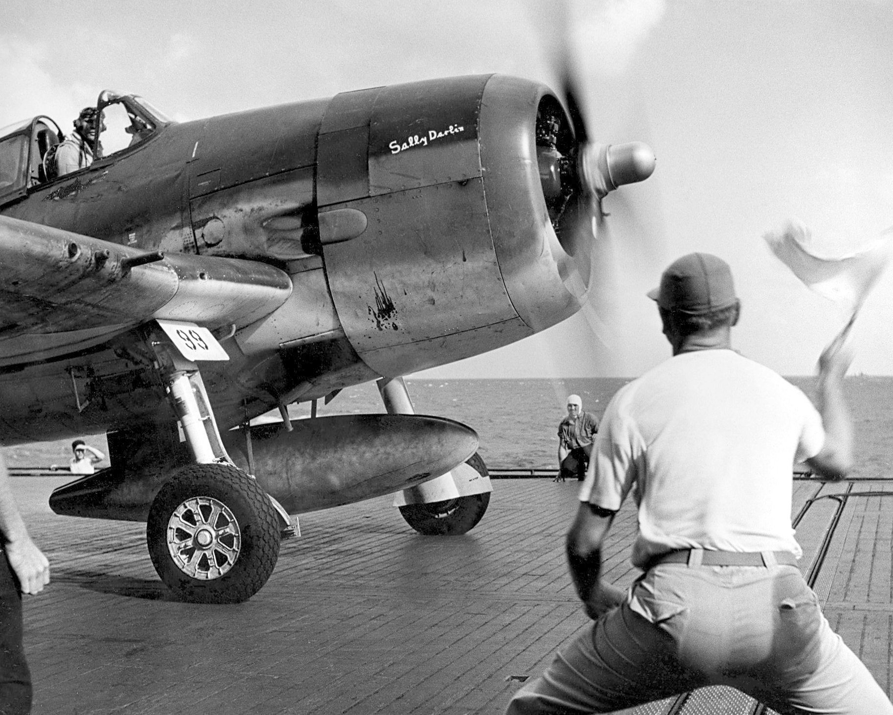 Grumman F6F 3 Hellcat VF 12 White 99 flown by CMDR Joseph C Clifton aboard the USS Saratoga 1944 01