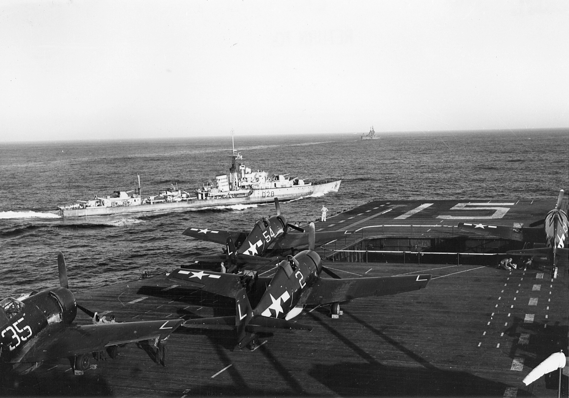 Grumman F6F 5 Hellcat VF 16 White L54, L2 and L35 aboard CV 15 USS Randolph 1944 01