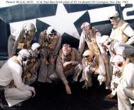 Asisbiz Aircrew USN press release photo showing VF 16 pilots onboard USS Lexington 1943 01