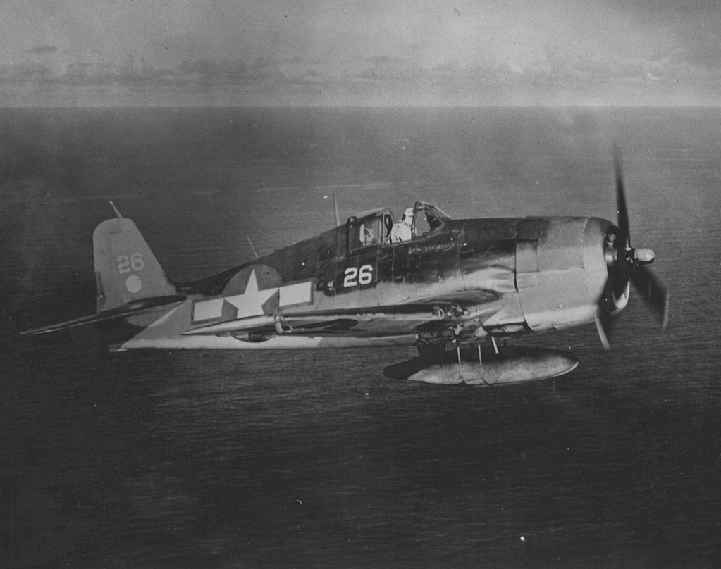 Grumman F6F 3 Hellcat VF 2 White 26 USS Hornet CV 12 on patrol 1944 01