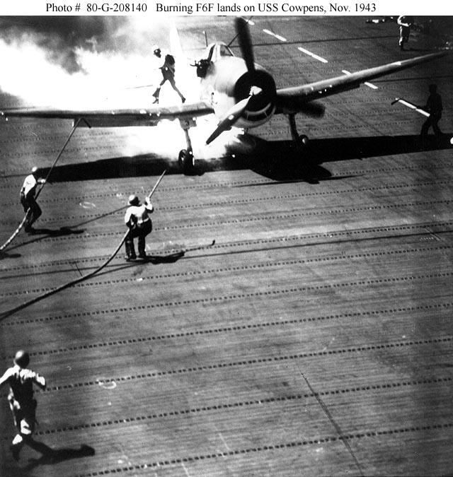 Grumman F6F 3 Hellcat CVL 25 USS Cowpens 1943 01