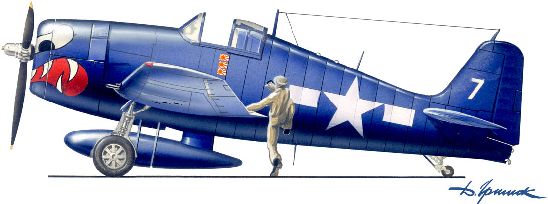 Grumman F6F 5 Hellcat VF 27 White 7 Paper Doll Lt Carl A Brown CVL 23 USS Princeton Oct 24th 1944 0E