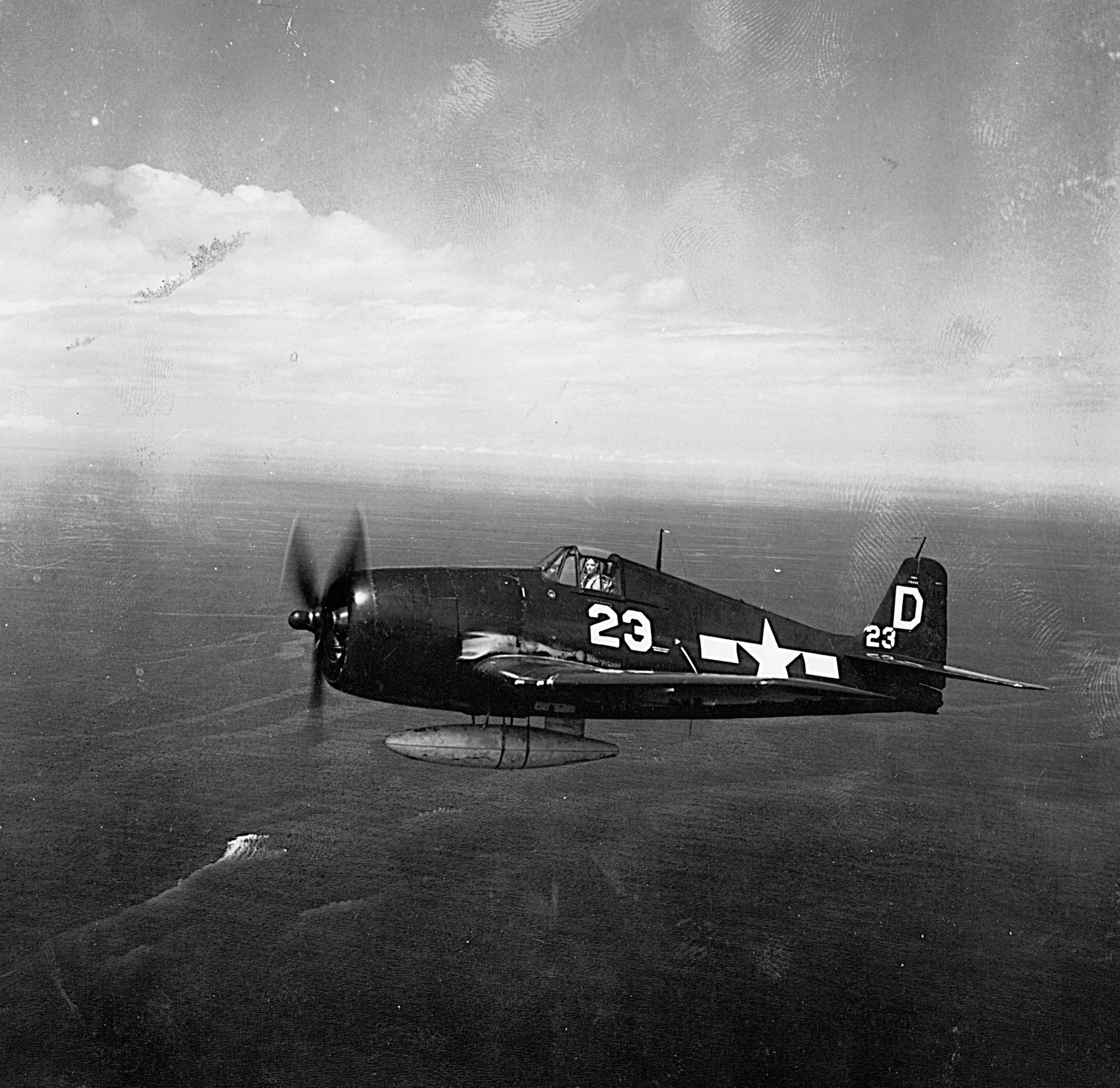 Grumman F6F 5 Hellcat VF 27 White D23 on patrol CVL 22 USS Independence 1945 01