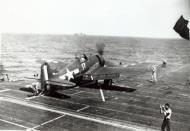Asisbiz Grumman F6F 5 Hellcat VF 29 White 17 Arthur Ray Hawkins preparing for launch CVL 28 USS Cabot 1944 01