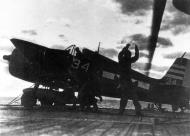Asisbiz Grumman F6F 5 Hellcat VF 29 White 34 preparing for launch CVL 28 USS Cabot 1944 01