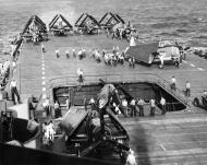 Asisbiz Grumman F6F 5 Hellcat VF 3 White 31 and 21 aboard CV 10 USS Yorktown 01
