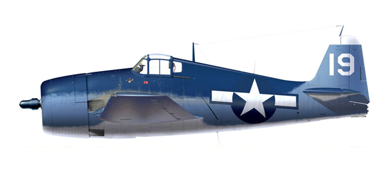Grumman F6F 3 Hellcat VF 32 White 19 LtJg Joseph C Sultzer BuNo 41777 CVL 27 USS Langley 23rd Jul 1944 0A