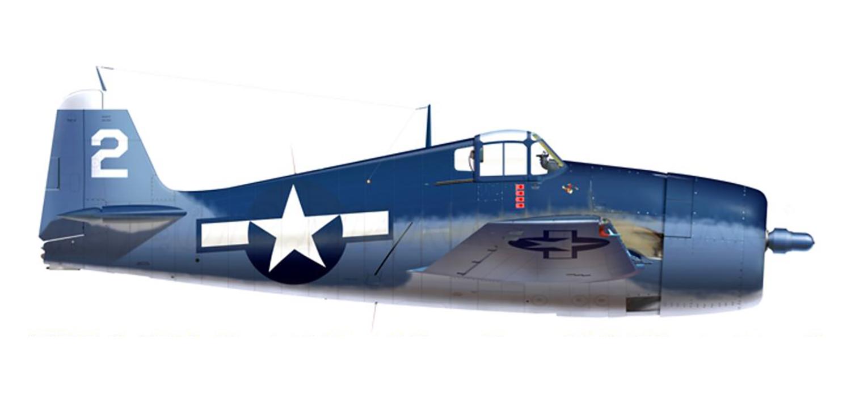 Grumman F6F 3 Hellcat VF 32 White 2 LtJg Donald E Reeves BuNo 41746 CVL 27 USS Langley 11th Jun 1944 0A