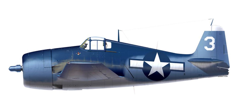 Grumman F6F 3 Hellcat VF 32 White 3 Lt Malcolm N Wickendoll BuNo 41646 CVL 27 USS Langley 11th Jun 1944 0A