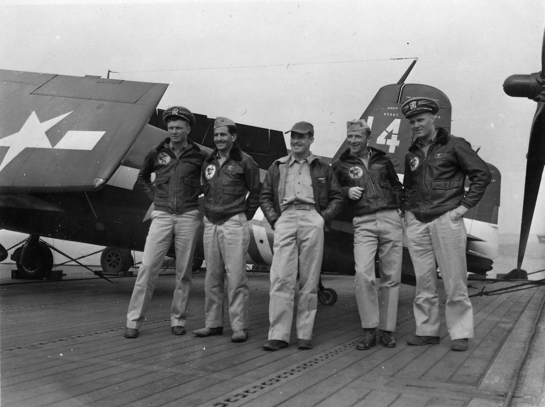 Grumman F6F 5 Hellcat VF 36 White 14 BuNo 93657 CVE 112 USS Siboney Aug 1945 May 1946 01