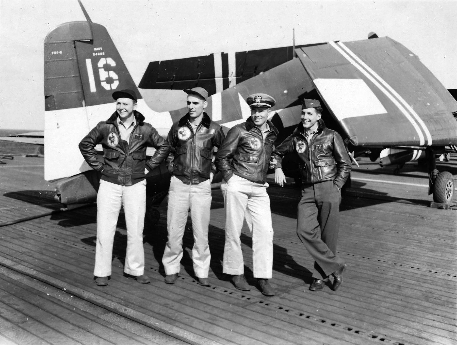 Grumman F6F 5 Hellcat VF 36 White 16 CVE 112 USS Siboney Aug 1945 May 1946 01