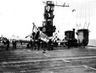 Asisbiz Grumman F6F 5 Hellcat VF 46 White 13 landing mishap CVL 22 USS Independence 01