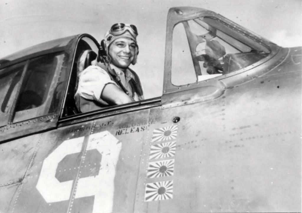 Aircrew Jim Schiller in his Grumman F6F Hellcat VF 5 White 9 01