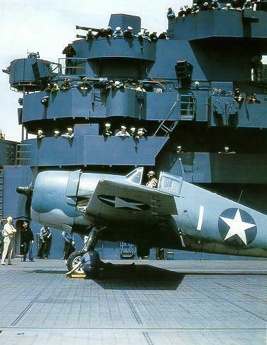 Grumman F6F 3 Hellcat VF 5 White 1 preparing for launch CV 10 USS Yorktown 01