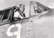 Asisbiz Aircrew Jim Schiller in his Grumman F6F Hellcat VF 5 White 9 01