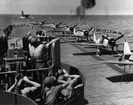Asisbiz Grumman F6F 5 Hellcat VF 5 White 18 aboard CV 12 USS Hornet 1945 01