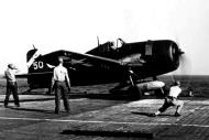 Asisbiz Grumman F6F 5 Hellcat VF 6 White 50 about to be catapulted from USS Suwannee April 1945 01