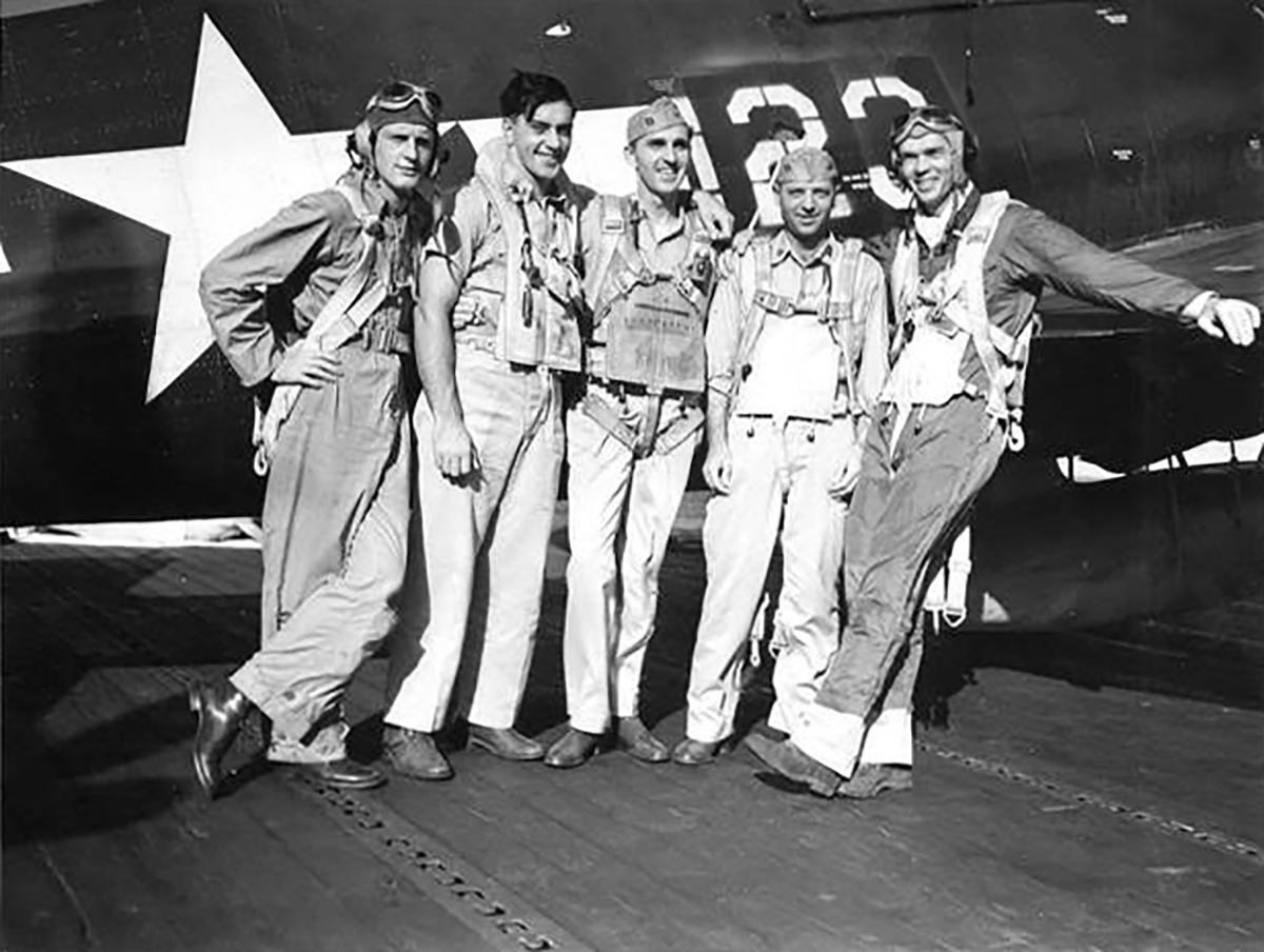 Aircrew USN VF 83 pilots aboard CV 9 USS Essex 06